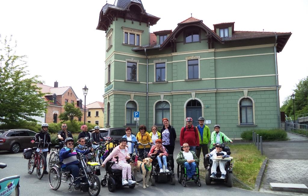 Gesprächrunde zwischen dem Landrat Graichen (l.) & dem Behindertenbeauftragten des Landkreis Leipzig, Jens Merkel
